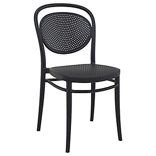 Siesta Outdoor Marcel Chair Black (Set of 2), Black, large