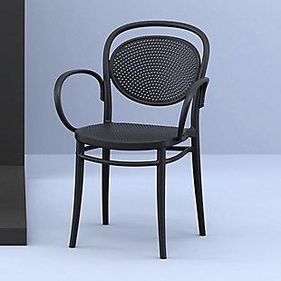 Siesta Outdoor Marcel XL Arm Chair Black (Set of 2), Black, rollover
