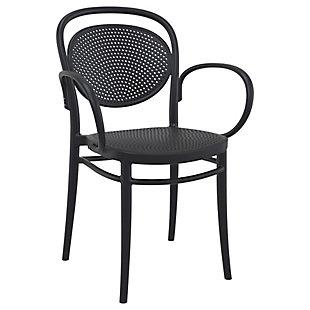 Siesta Outdoor Marcel XL Arm Chair Black (Set of 2), Black, large