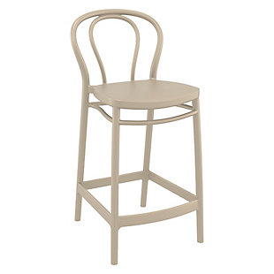 Siesta Outdoor Victor Counter Stool Taupe (Set of 2), , large