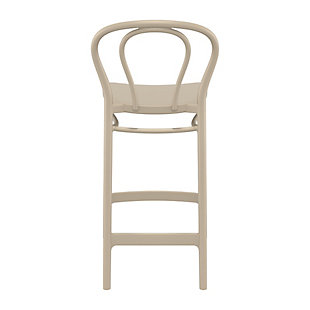 Siesta Outdoor Victor Counter Stool Taupe (Set of 2), Taupe, large