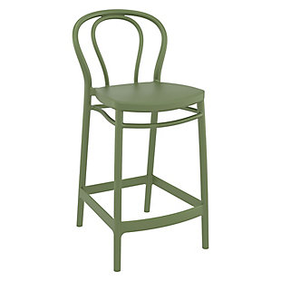 Siesta Outdoor Victor Counter Stool Olive Green (Set of 2), , rollover