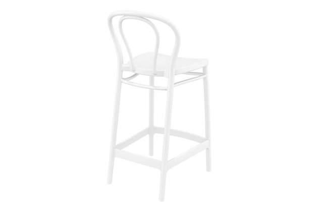 Siesta Outdoor Victor Counter Stool White (Set of 2), White, large