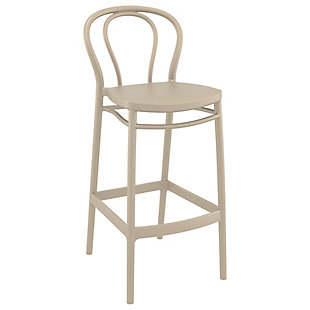 Siesta Outdoor Victor Bar Stool Taupe (Set of 2), , large