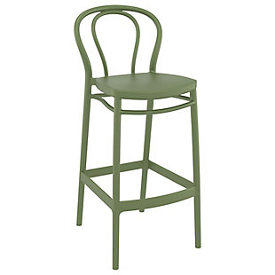 Siesta Outdoor Victor Bar Stool Olive Green (Set of 2), , large