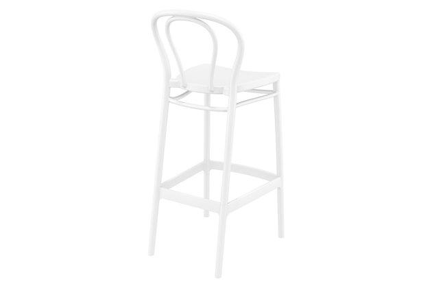 Siesta Outdoor Victor Bar Stool White (Set of 2), White, large