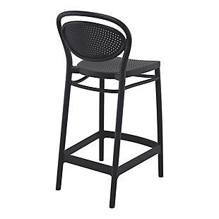 Siesta Outdoor Marcel Counter Stool Black (Set of 2), Black, large