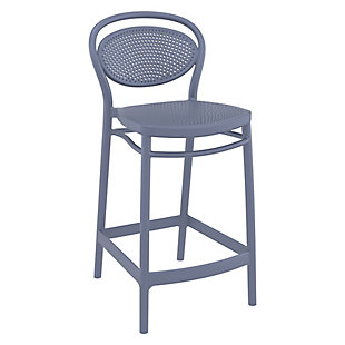 Siesta Outdoor Marcel Counter Stool Dark Gray (Set of 2), , large