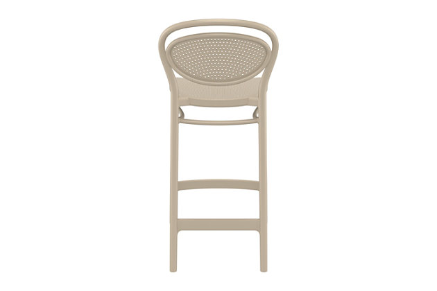 Siesta Outdoor Marcel Counter Stool Taupe (Set of 2), Taupe, large