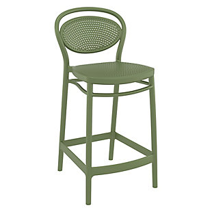 Siesta Outdoor Marcel Counter Stool Olive Green (Set of 2), , large