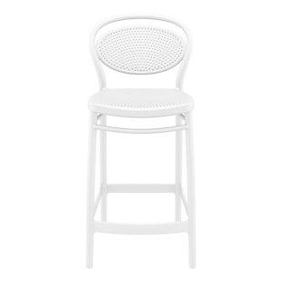 Siesta Outdoor Marcel Counter Stool White (Set of 2), White, large