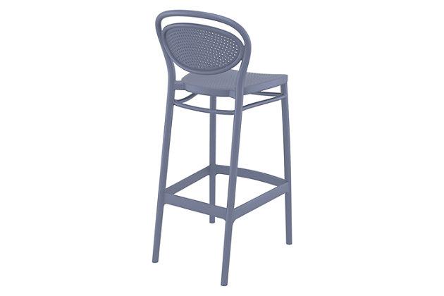 Siesta Outdoor Marcel Bar Stool Dark Gray (Set of 2), Dark Gray, large