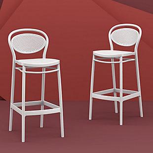 Siesta Outdoor Marcel Bar Stool White (Set of 2), , rollover