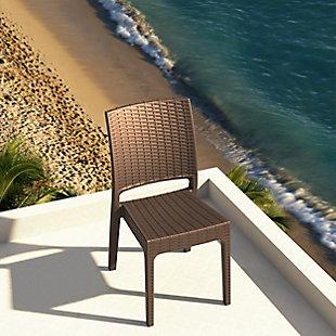 Siesta Outdoor Florida Wickerlook Dining Chair Brown (Set of 2), Brown, rollover