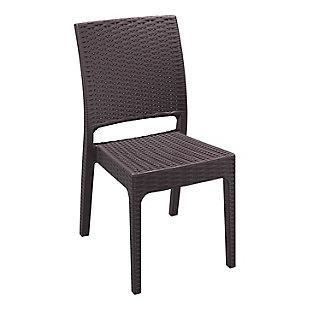 Siesta Outdoor Florida Wickerlook Dining Chair Brown (Set of 2), Brown, large