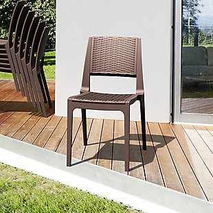 Siesta Outdoor Verona Wickerlook Dining Chair Brown (Set of 2), , rollover