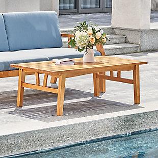 Vifah Outdoor Nautical Eucalyptus Wooden Sofa Table, , rollover