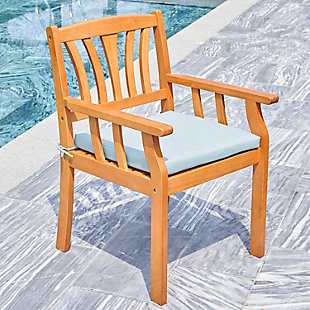 Vifah Outdoor Nautical Eucalyptus  Wooden Dining Chair, , rollover