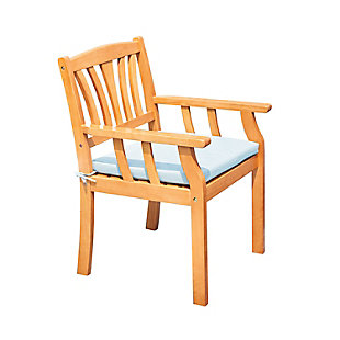 Vifah Outdoor Nautical Eucalyptus  Wooden Dining Chair, , large