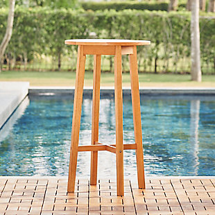 Vifah Outdoor Eucalyptus Wooden Bar Table, , rollover