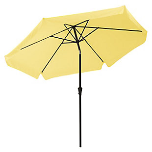 CorLiving 10' Outdoor Round Tilting Patio Umbrella, Yellow, large