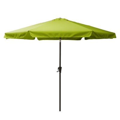 CorLiving 10' Outdoor Round Tilting Patio Umbrella, Green, large