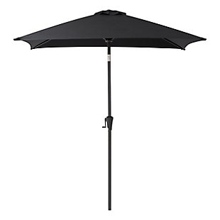 CorLiving 9' Outdoor Square Tilting Patio Umbrella, , large