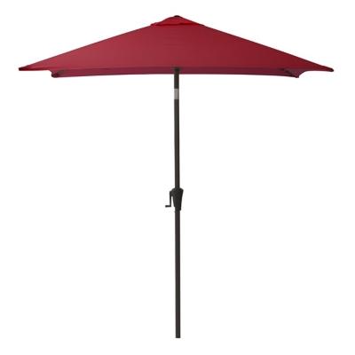 CorLiving 9' Outdoor Square Tilting Patio Umbrella, Burgundy, large