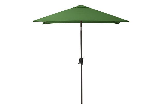 CorLiving 9' Outdoor Square Tilting Patio Umbrella, Green, large