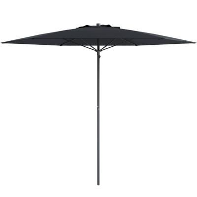 CorLiving 7.5' Outdoor UV and Wind Resistant Beach/Patio Umbrella, Black, large