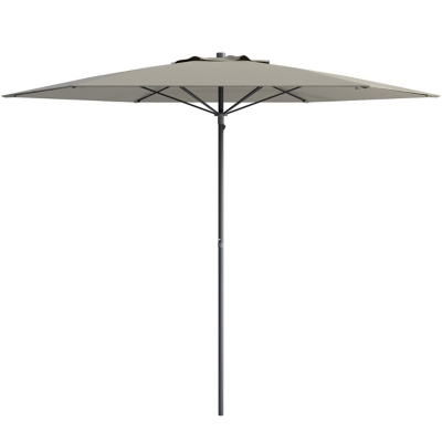 CorLiving 7.5' Outdoor UV and Wind Resistant Beach/Patio Umbrella, Gray, large