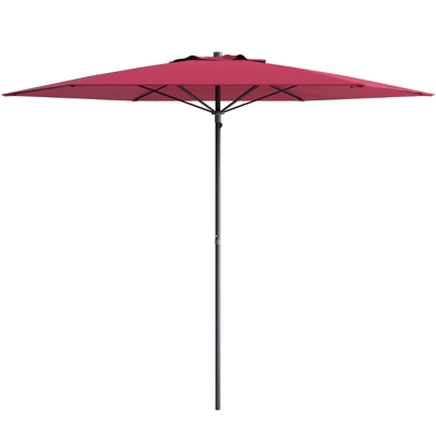 CorLiving 7.5' Outdoor UV and Wind Resistant Beach/Patio Umbrella, Burgundy, large
