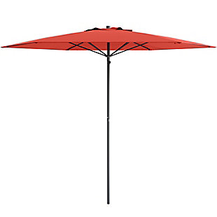 CorLiving 7.5' Outdoor UV and Wind Resistant Beach/Patio Umbrella, Red, large