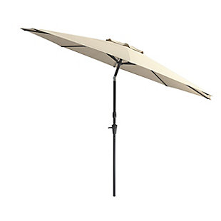CorLiving 10' Outdoor Tilting Patio Umbrella, White, large