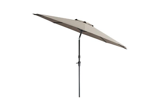 CorLiving 10' Outdoor Tilting Patio Umbrella, Gray, large