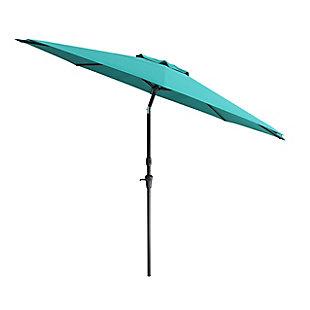 CorLiving 10' Outdoor Tilting Patio Umbrella, Blue, large