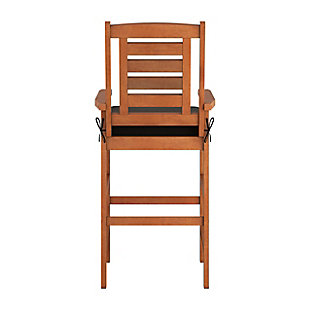 CorLiving Outdoor Hardwood Bar Height Chairs (Set of 2), , large