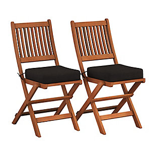 CorLiving Outdoor Hardwood Folding Chairs (Set of 2), , large