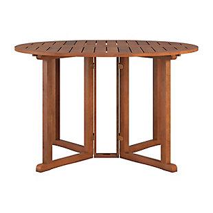 CorLiving Outdoor Hardwood Drop Leaf Dining Table, , large