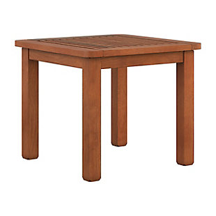 CorLiving Outdoor Hardwood Side Table, , large