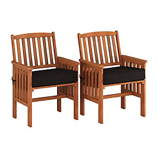 CorLiving Outdoor Hardwood Armchairs (Set of 2), , large