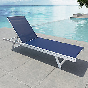 CorLiving Outdoor Weather Resistant Mesh Reclining Patio Lounger, , rollover