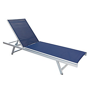 CorLiving Outdoor Weather Resistant Mesh Reclining Patio Lounger, , large