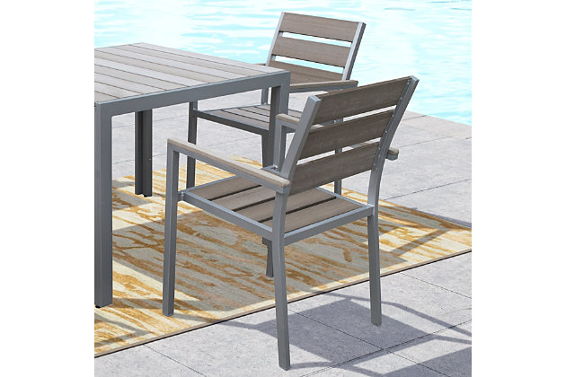 Corliving Outdoor Dining Chairs Set Of, Ashley Furniture Outdoor Dining Chairs