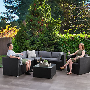 Parksville  7-Piece Outdoor Patio Sectional Set, , rollover