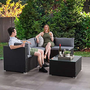 Parksville  5-Piece Outdoor Patio Sectional Set, , rollover