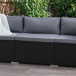 Parksville  Outdoor Patio Sectional Middle Chair, , rollover