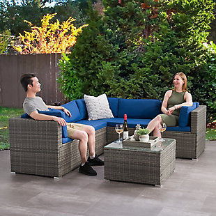 Parksville  6-Piece Outdoor Patio Sectional Set, , rollover