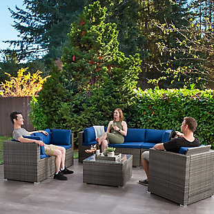 Parksville  7-Piece Outdoor Patio Sofa Sectional Set, , rollover