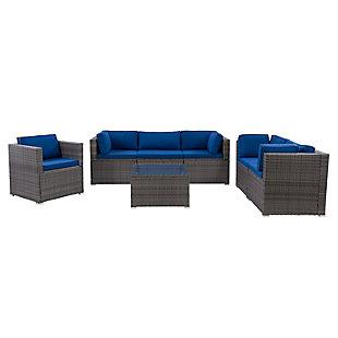 Parksville  7-Piece Outdoor Patio Sofa Sectional Set, , large